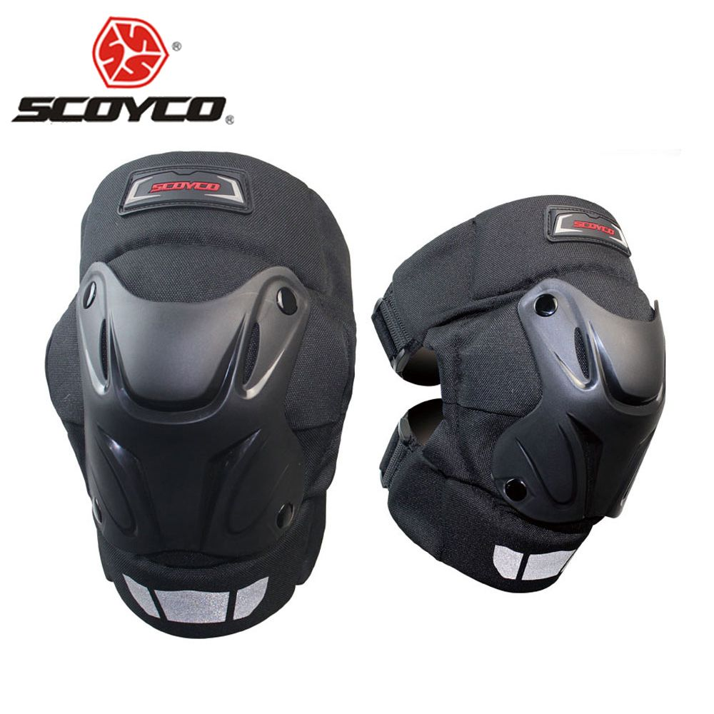 SCOYCO Knee Pad Motocross Motorcycle Knee Pad Protective Windproof Moto Knees Pads Protector Motorcycle Protection Equipment