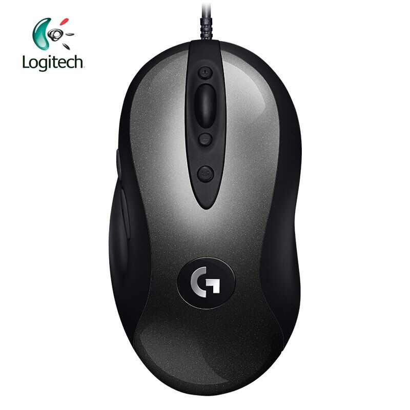 Logitech 2018 New Version MX518 Legendary Gaming Mouse with 16000 DPI Optical 400 IPS Classic Fever Level Mouse Legend Reborn