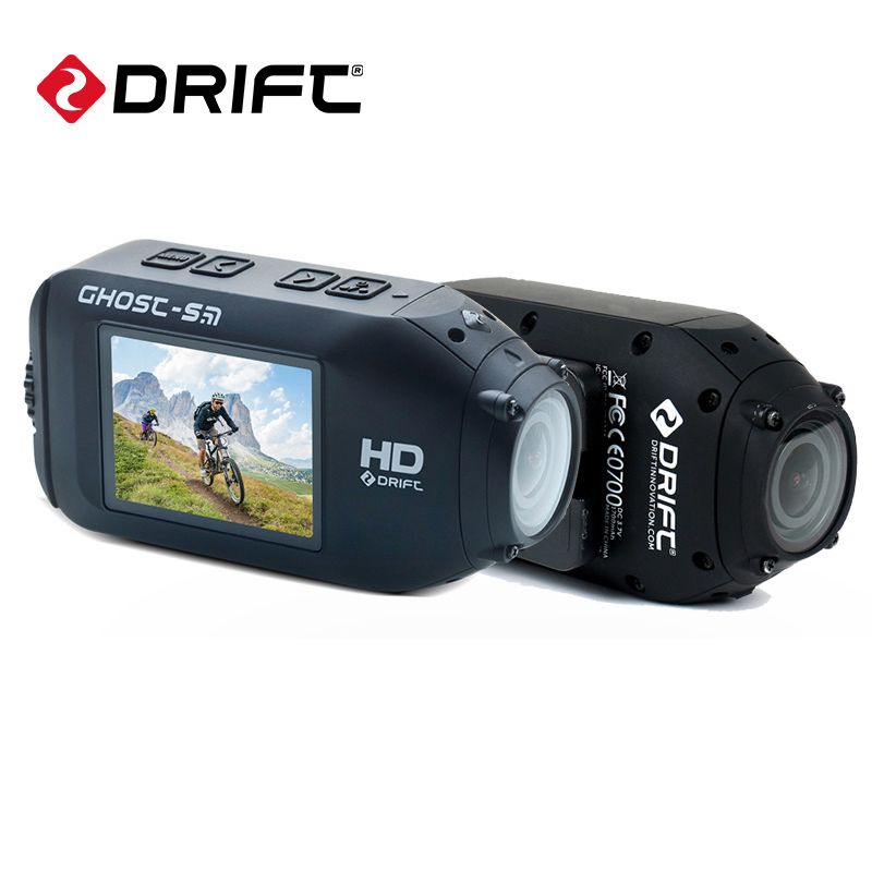 Drift Ghost S Action Sports Camera Motorcycle Bike Helmet mini Cam with WiFi Waterproof LCD Screen 160 Degree Wide Angle Lens