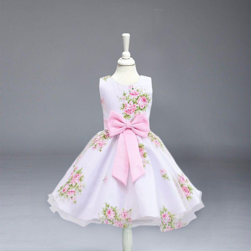 Высокое качество, цветок платья для девочек Для детей Свадебная вечеринка Крещение платье принцессы для маленьких девочек свадебные милое ...