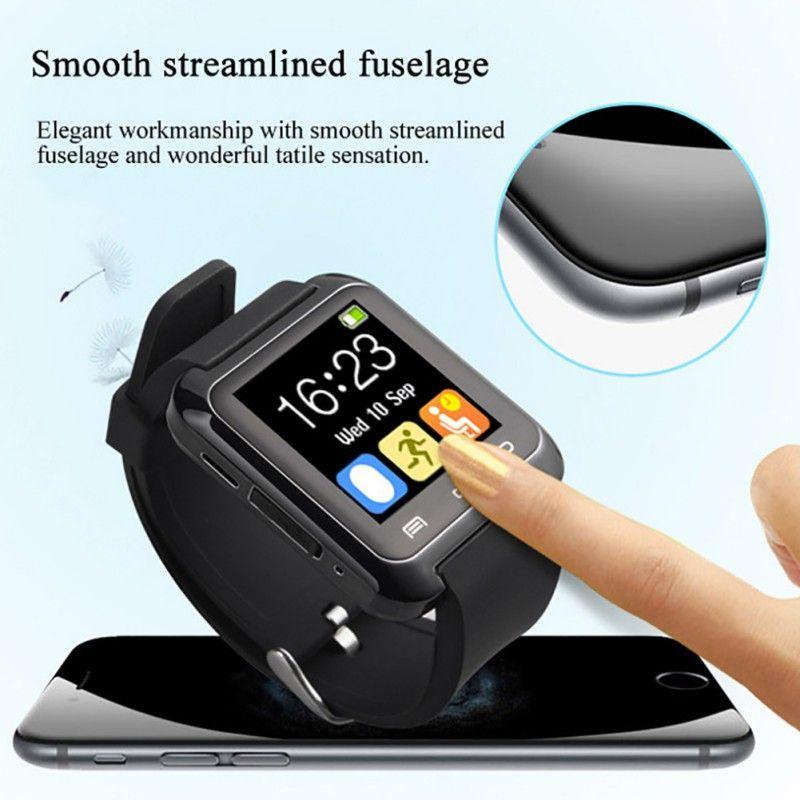 U8 smartwatch Bluetooth Smart Watch mensaje call notification fitness Tracker passometer con ranura SIM para iPhone teléfonos Android