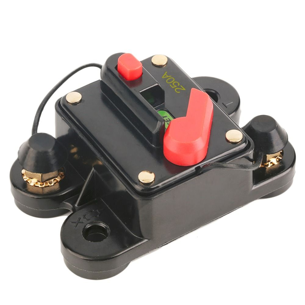 2016 New 200A 250A  optional Car Audio Inline Circuit Breaker Fuse for 12V Protection SKCB-01-100A High Quality