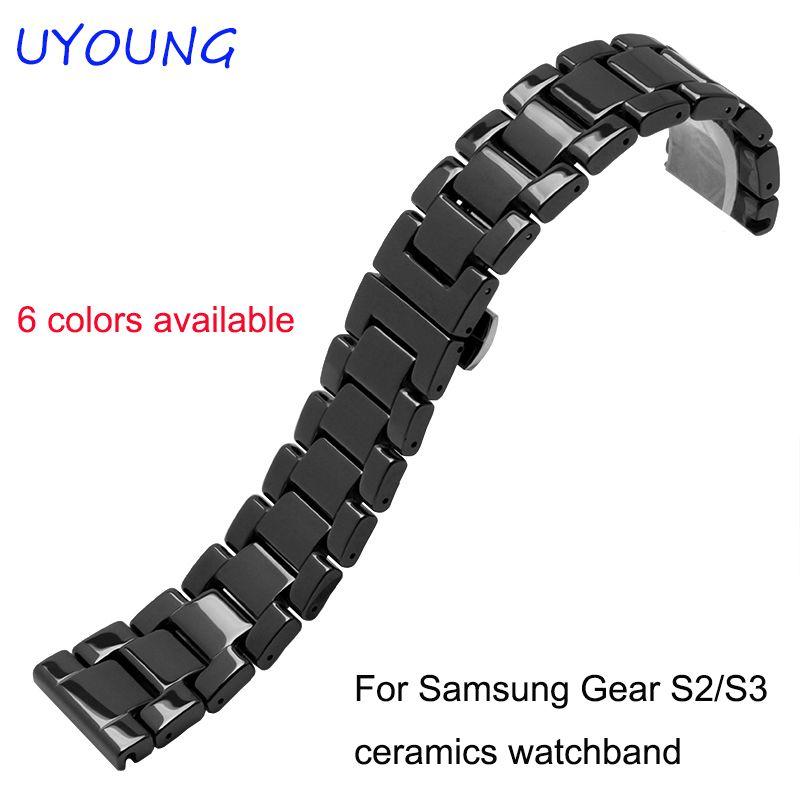 For Samsung Gear S2/S3 smart wristband quality ceramic watch strap 20mm 22mm luxury metal bracelet