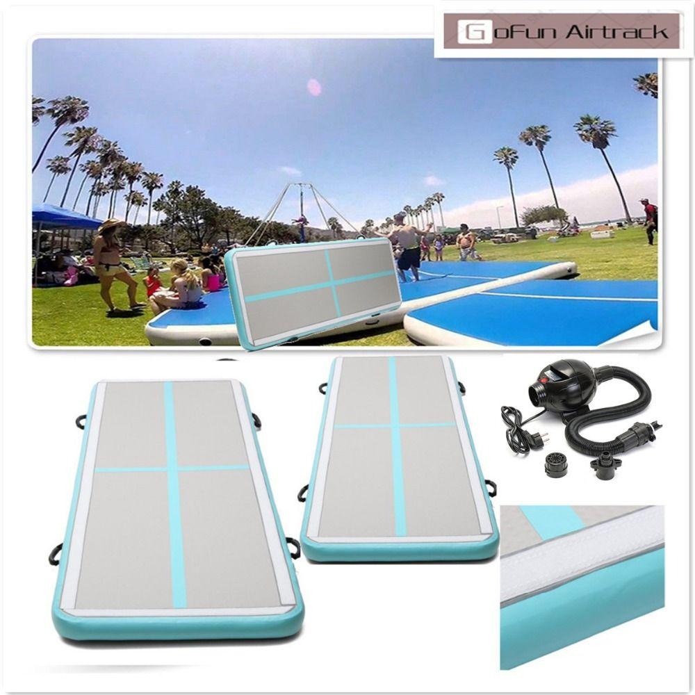 Gofun hergestellt AirTrack 100 x300x10cm Air Matten Sport Übung Pad Aufblasbare Taumeln Track Gymnastik Training Pad Mit Luftpumpe