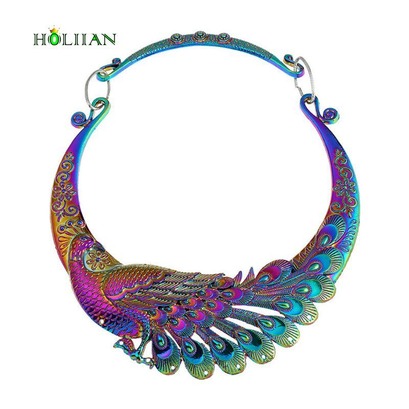 Grande europeo marca étnica colorida Bola de Dragón Phoenix Lucky collar grande declaración Maxi collar y colgantes mujer nueva hipérbole
