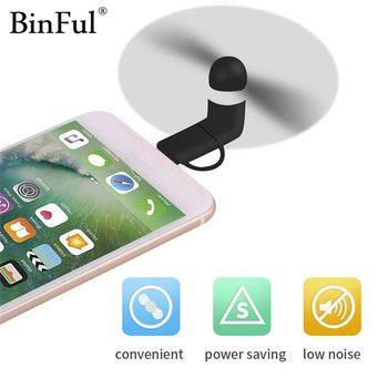 BinFul Mini Portable Cool Micro USB Ventilateur Mobile Téléphone USB Gadget Fans testeur Pour iphone 5 5S 6 6 s 7 plus 8 pour Android téléphone