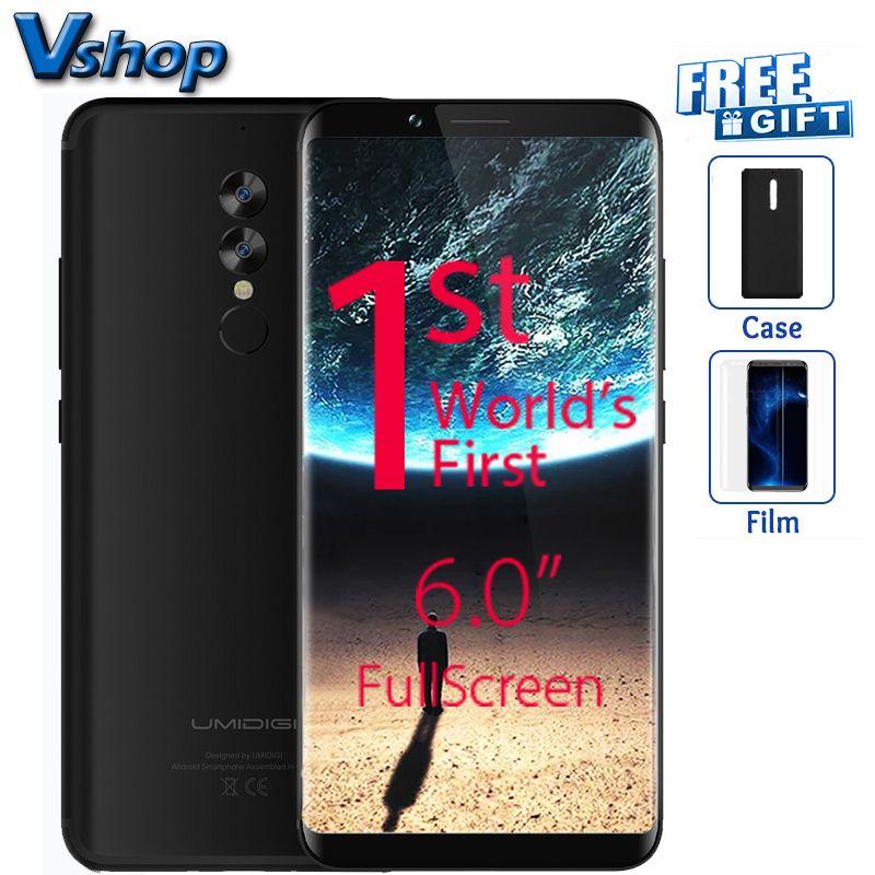 Original UMIDIGI S2 4G Mobile Phones Android 6.0 4GB+64GB Octa Core Smartphone 6.0 inch Full Screen Dual Back Cameras Cell Phone