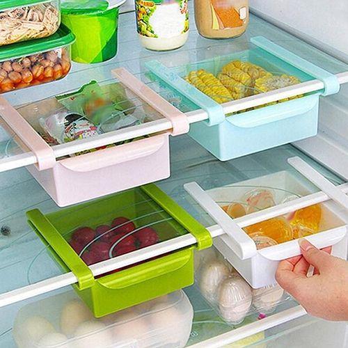 Кухня холодильник морозильник Пространство Заставка Организатора стеллаж для хранения держатель слайд ящик