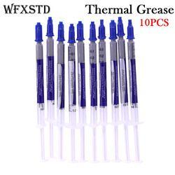 WFXSTD 10 PCS New Thermal Grease colle Composé De Silicium Grattoir CPU Radiateur Processeur GPU Ventilateur De Refroidissement silicone Pâte Thermique