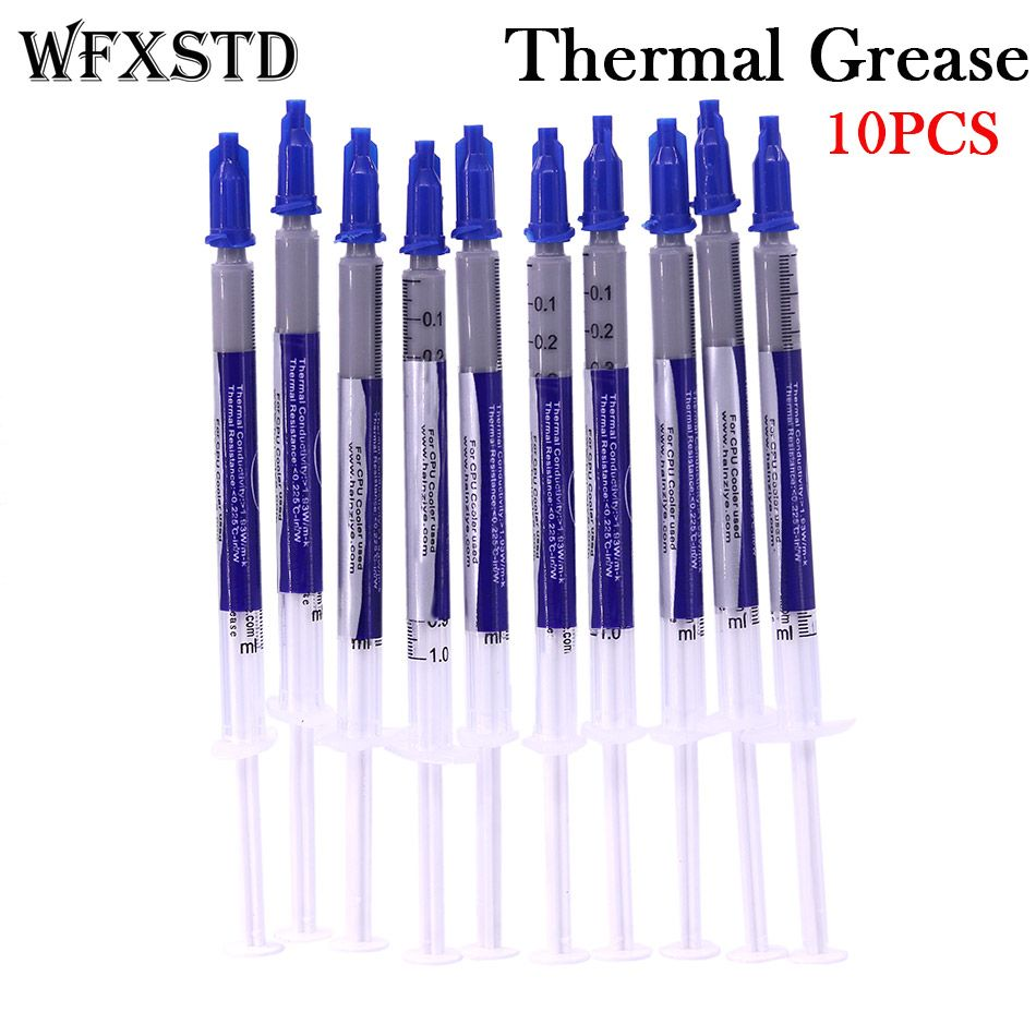 WFXSTD 10PCS New Thermal Grease Paste Compound Silicon Scraper CPU HeatSink Processor GPU Cooling silicone Fan Thermal Paste