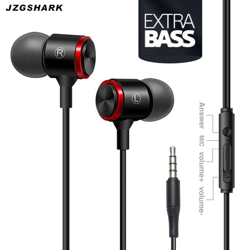 Métal In-Ear Écouteurs fones de ouvido Filaire Bruit Annulation Téléphone PC Casque Portable MP3 auriculares avec Microphone Vente Chaude