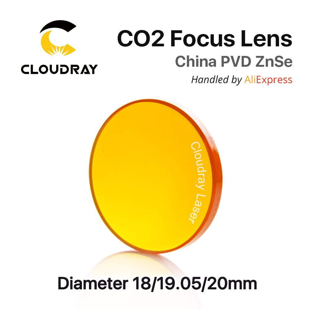 China ZnSe CO2 Focus Lens Dia. 18 - 20mm FL 50.8 63.5 101.6mm 1.5 - 4 CVD for Laser Engraving Cutting Machine Free Shipping