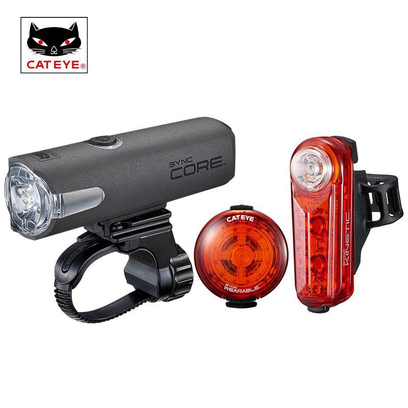 CATEYE Radfahren Licht SYNC CORE Bike Licht USB Aufladbare Smartphone Synchronisieren Control Sicherheit Licht Fahrrad Rücklicht Laterne