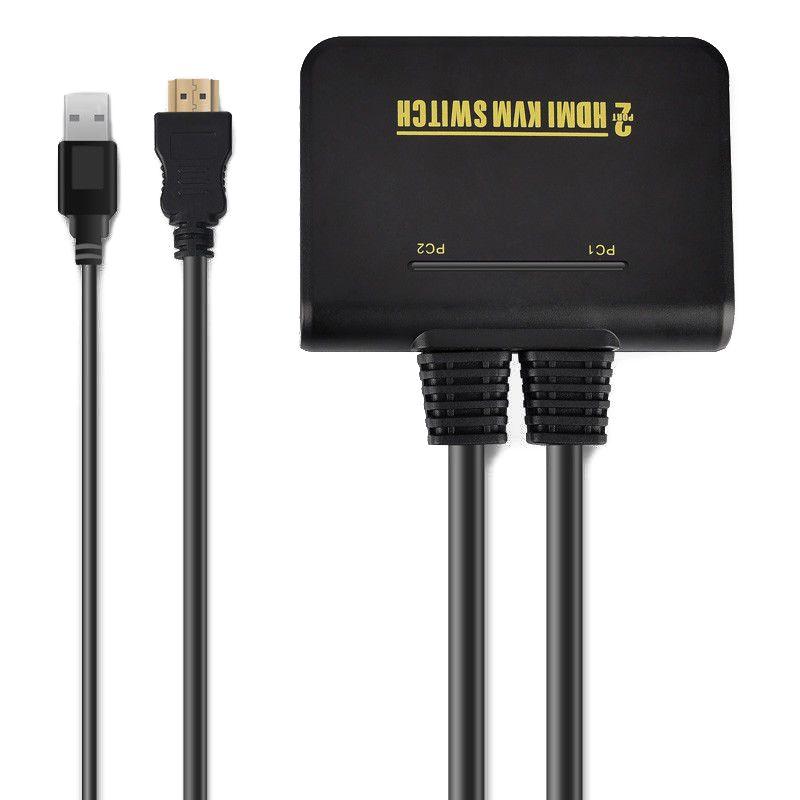 1X2 Port USB HDMI Kvm-switch Switcher Mit Kabel für Dual Monitor Tastatur Maus