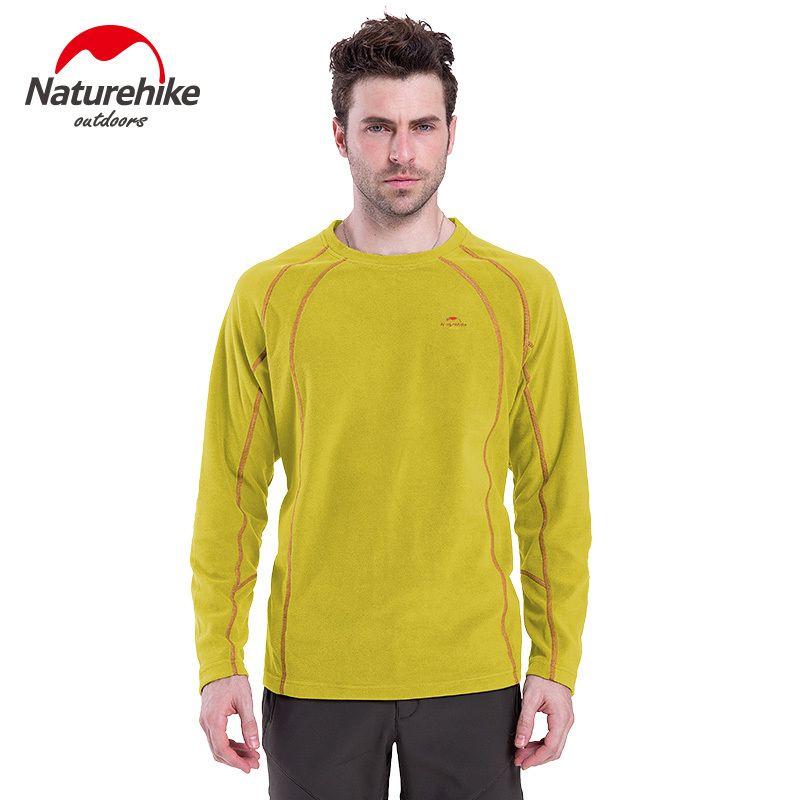 Naturehike männer thermische Pullover Fleecejacke männlich liner warme volle hülse Unterwäsche T-shirt Mann mantel schwarz XL Jersey