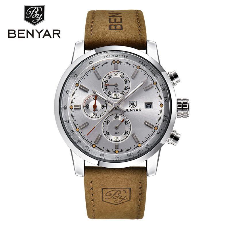 Brand Luxury BENYAR Sport Watch Men Waterproof Date Display Relogio Masculino Male Clock Man's Outdoor Stops Wristwatches Gift