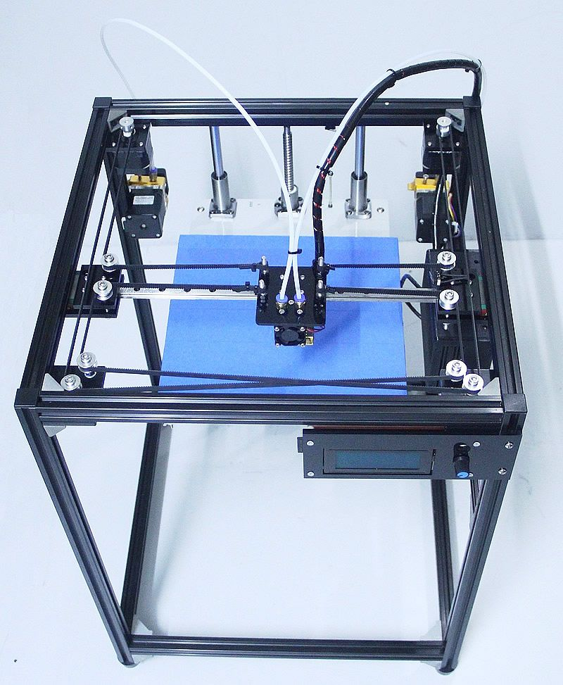 ifancybox3 dual big size corexy 3D Printer kit ifancybox Machine printer 3D Ramps black corexy Full Kit 3d printer dual extruder