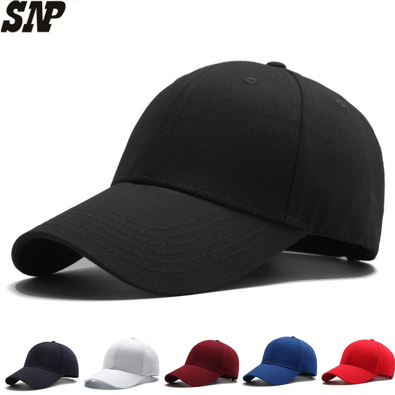 black baseball cap men women hat snapbcak Baseball Caps male Casual solid color bone Hats dad cap gorras Size adjustable cap