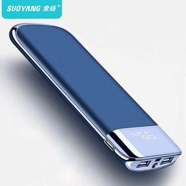 Hot 20000 mah Banque de Puissance Externe Batterie PoverBank 2 USB LCD Powerbank Portable Mobile téléphone Chargeur pour Xiao mi mi 18650