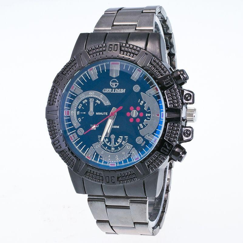 2017 uhr Männer Uhren GERIDUN Marke Luxus Berühmte Mode Armbanduhr Männer Uhr Relogio Masculino Hodinky Luxus quarzuhr