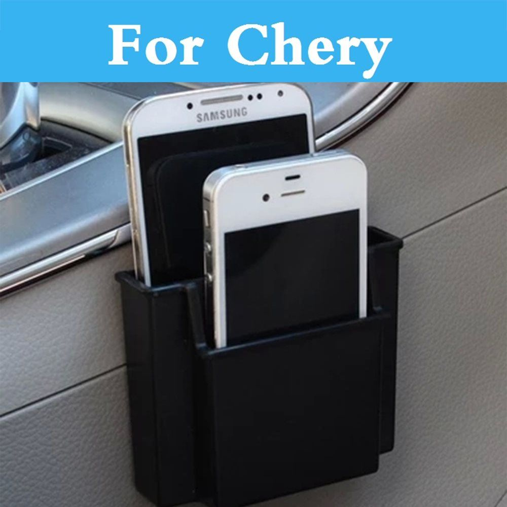 Car Phone Holder Charge Box Holder Pocket Organizer Storage For Chery Fora Indis Kimo Amulet Arrizo 7 Bonus Crosseastar Eastar
