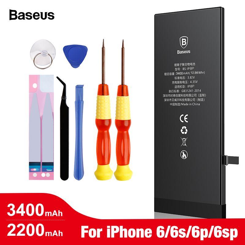 Batterie de téléphone portable d'origine Baseus pour iPhone 6 6s s Plus Batterie de remplacement Batterie interne haute capacité pour iPhone 6plus