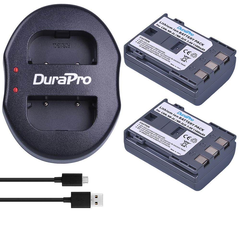 2 pièces NB-2L NB 2L NB-2LH Li-ion batterie appareil photo + USB double chargeur pour Canon EOS 400D S80 S70 S50 S60 350D G7 G9 Kiss N X rebelle XTi