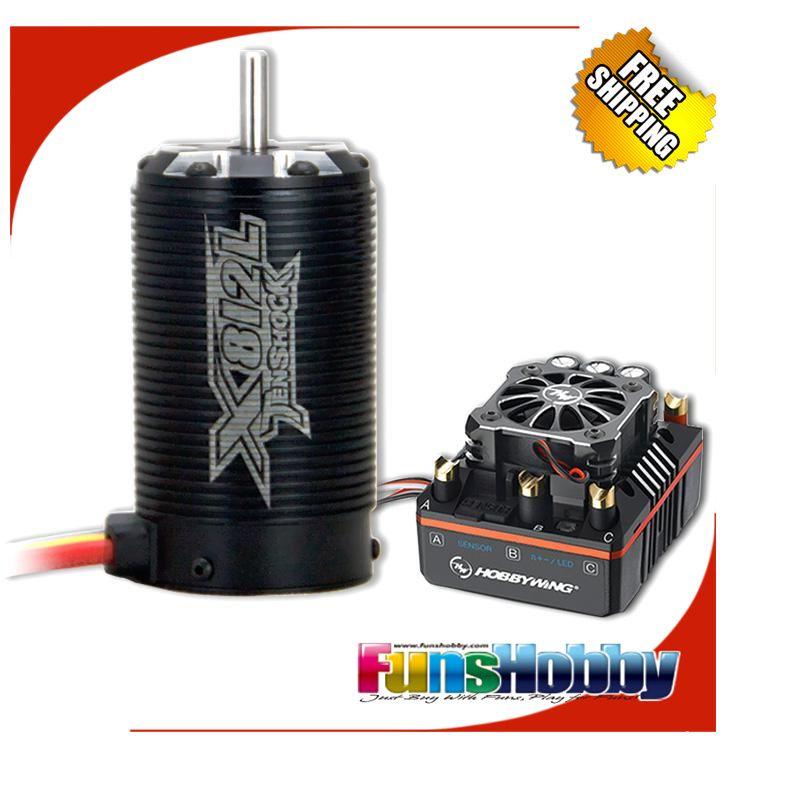 RC 1/8 Off Road Super Permium Power Combo INKL. Tenshock X812L Sensor Motor & Hobbywing XERUN XR8 PLUS ESC für Buggy Wettbewerb