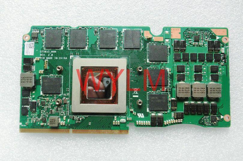free shipping G750JZ GTX880M 4G VGA graphics card N15E-GX-A2 For ASUS GDDR5 G750J G750JZ Laptop VGA graphics car 100%Tested well