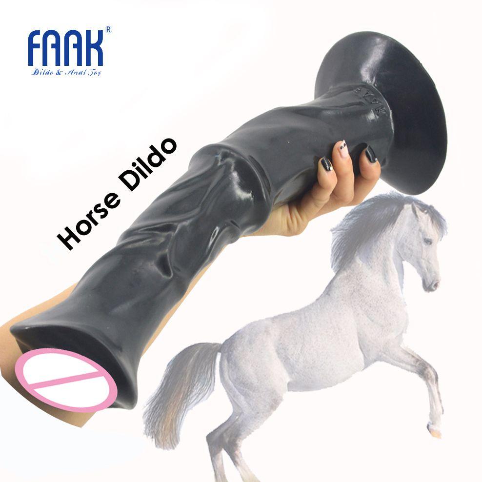 FAAK 13.8 pouce énorme pénis animal cheval gode bite avec la tasse forte d'aspiration côtelé gros jouets sexuels pour les femmes flirter produits de sexe chaud