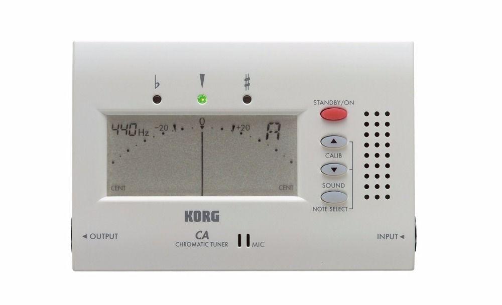 Le Tuner chromatique électronique Korg CA-40 avec grand écran peut être utilisé pour le vent, la guitare, le ukulélé et les instruments à clavier