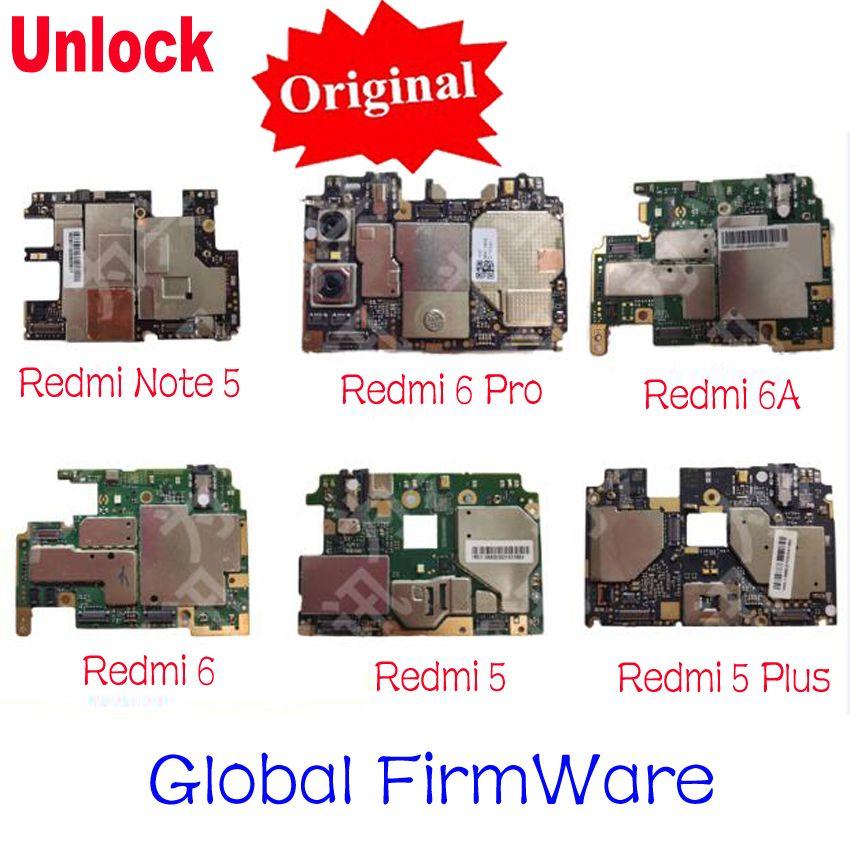 Original Entsperren mainboard Für Xiaomi Redmi Hinweis 5/Redmi 6 6a Redmi 5 Hongmi 5 plus Motherboard karte gebühr chipsätze flex kabel