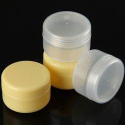 Haute Qualité 5 pcs 20 ml PP boîtes Pot de crème 20g Vide En Plastique Récipient Cosmétique Petit Échantillon Maquillage Sous-embouteillage Avec Bouchons À Vis