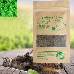جديد العضوية 100% الطبيعي قسط النعناع البري الماشية العشب 10g المنثول نكهة مضحك القط لعب