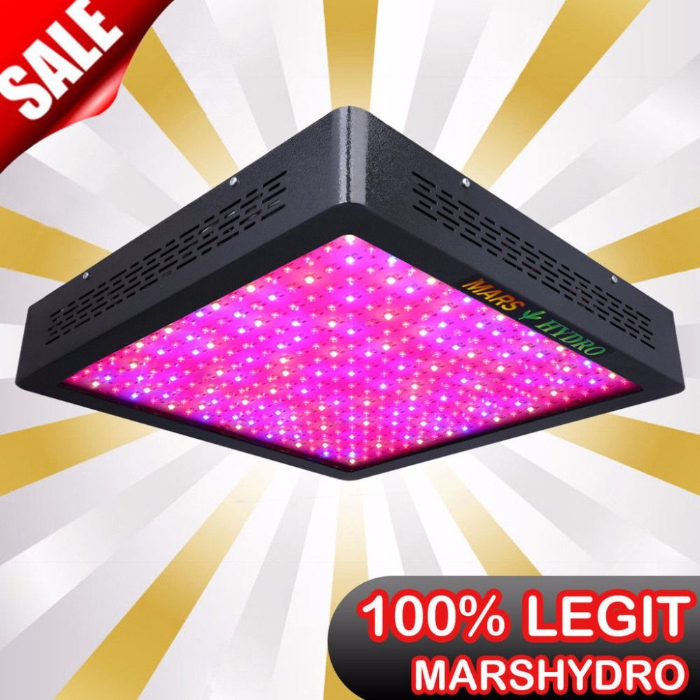 Mars Hydro marsII 1600 Full Spectrum LED Grow Light for Indoor Garden Hydro System