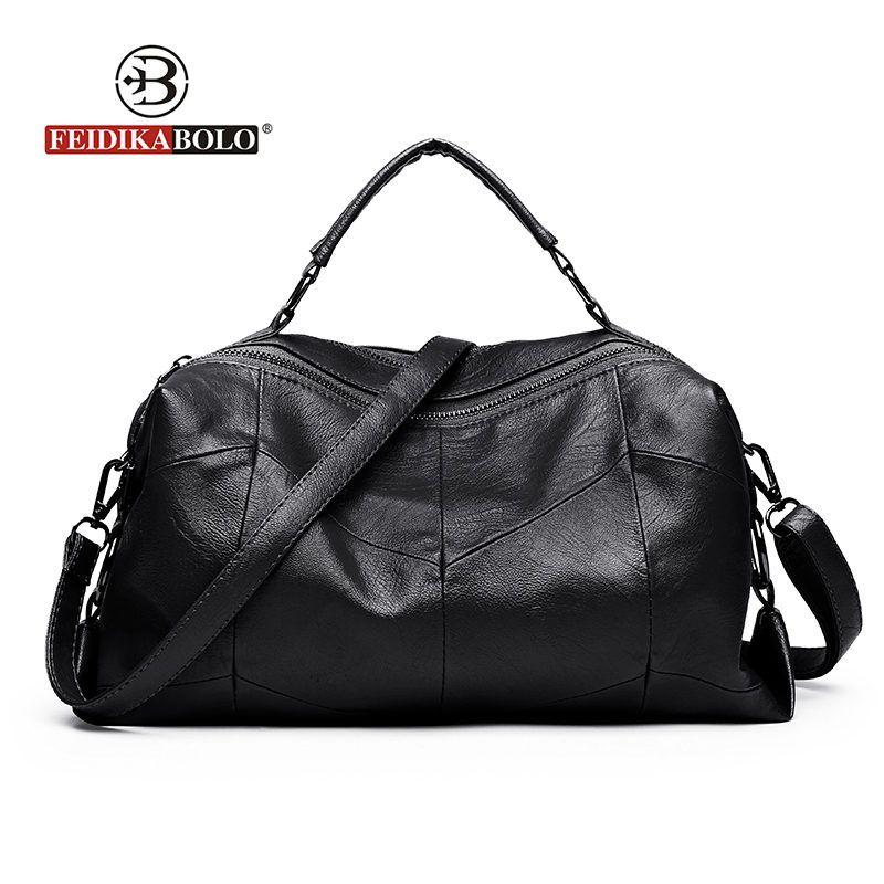 Fashion Brand Boston Women Handbags High-Capacity Patchwork Shoulder Bag Women Women's Leather Handbags Tote Shoulder New Style