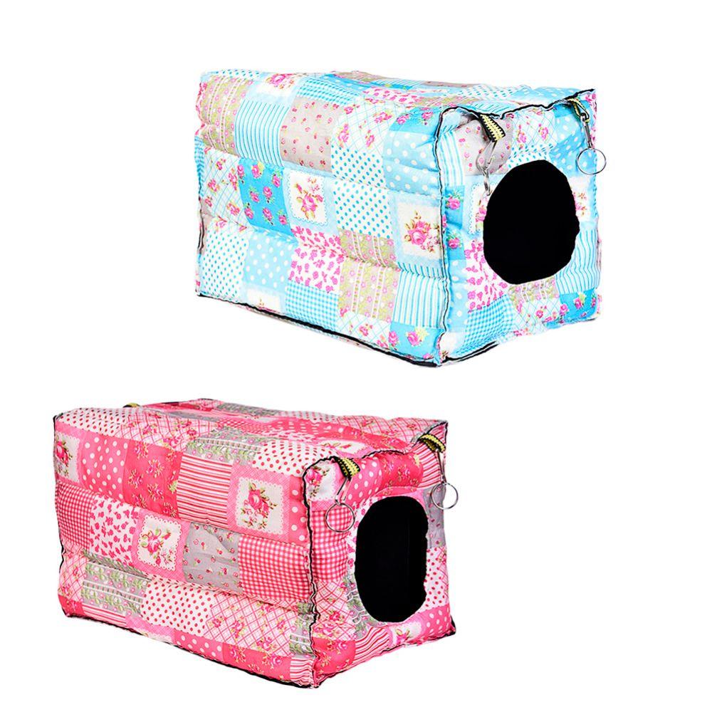 Crochet Design petits animaux Cube coton hamster maison Cage pour petits animaux écureuil cochon d'inde Chinchilla lapin maison accessoires