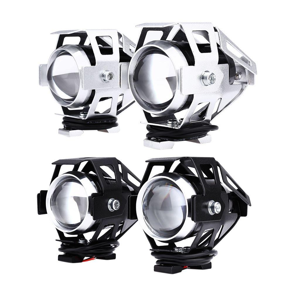 2pcs 125W 12V 3000LM U5 LED Transform Spotlight Motorcycle Headlight Alloy Material High Brightness Easy to Install