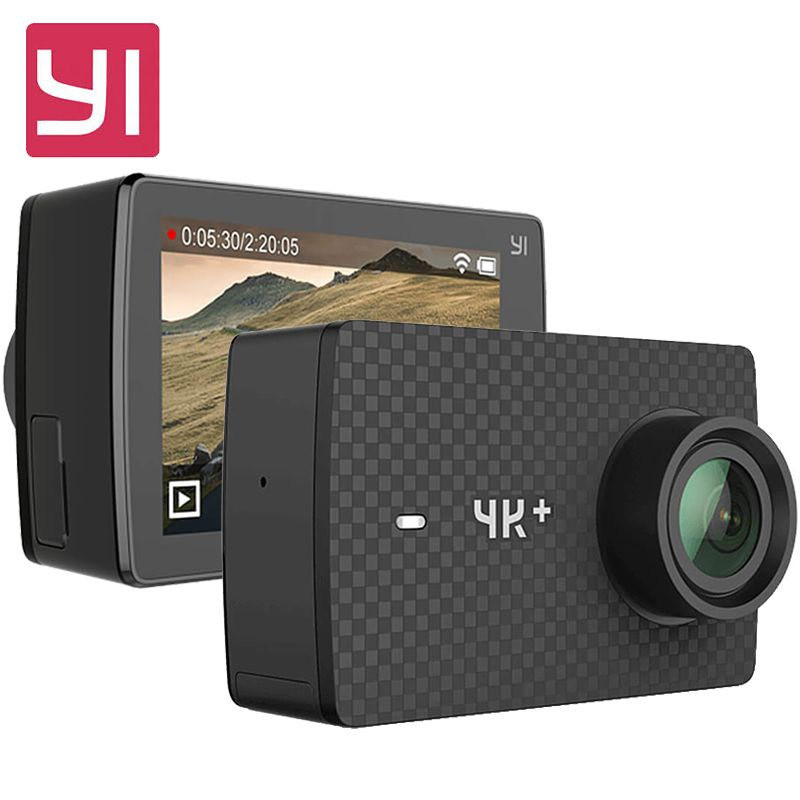 Original YI 4K Plus Action Camera 2.19' Ambarella H2 for SONY IMX377 12MP 155 Degree 4K Ultra HD YI 4K+ Sports Action Camera
