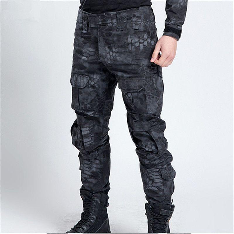 Hommes Tactique Militaire Camouflage Pantalon Hommes Casual Coupe-Vent Imperméable Chaud Camo Paintball Armée Pantalon Pour Mâle 11 Couleurs