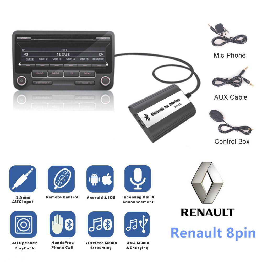DOXINGYE, USB AUX Bluetooth Auto Digitale Musik Cd Wechsler Adapter Auto MP3 Player Für Renault 8pin Clio Master Modus Dayton