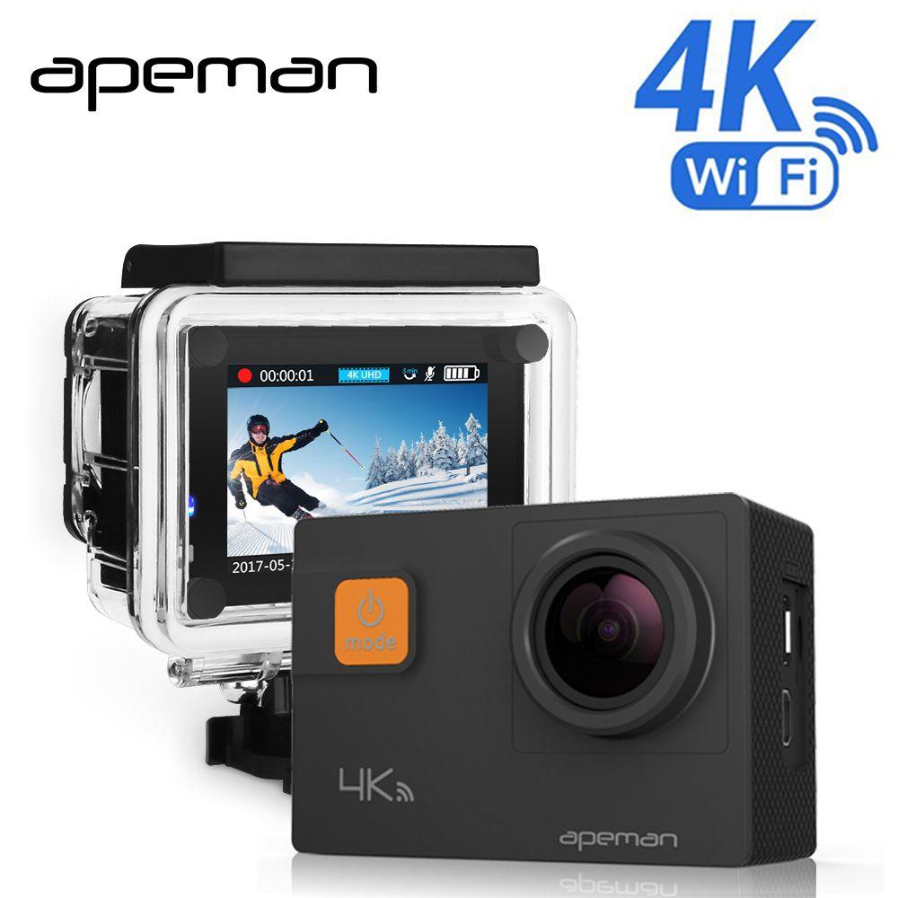 Apeman 4 k D'action Caméra A80 Pro Wifi Action Cam Full hd Sous-Marine Étanche Sport Caméra Vidéo Avec Novatek NTK96660 caméscope