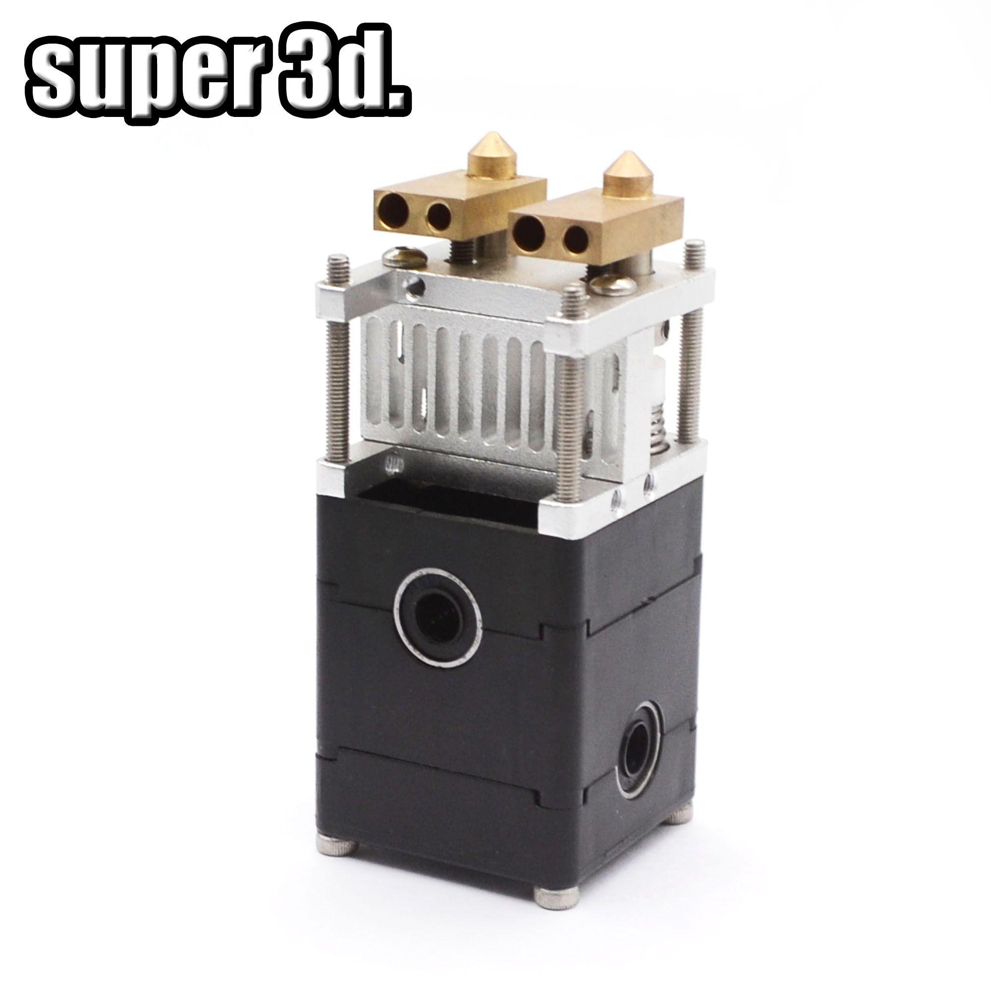UM2 Ultimaker 2 3D Drucker Dual Extrusion Kit 2 Dual Köpfe Extruder für 3mm/1,75mm Ultimaker 2 0,4mm Düse