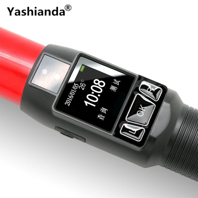 Yashianda Blow Type Alcohol Tester LED Display Portable High-Precision Traffic Quick Test Test Instrument With Flashlight