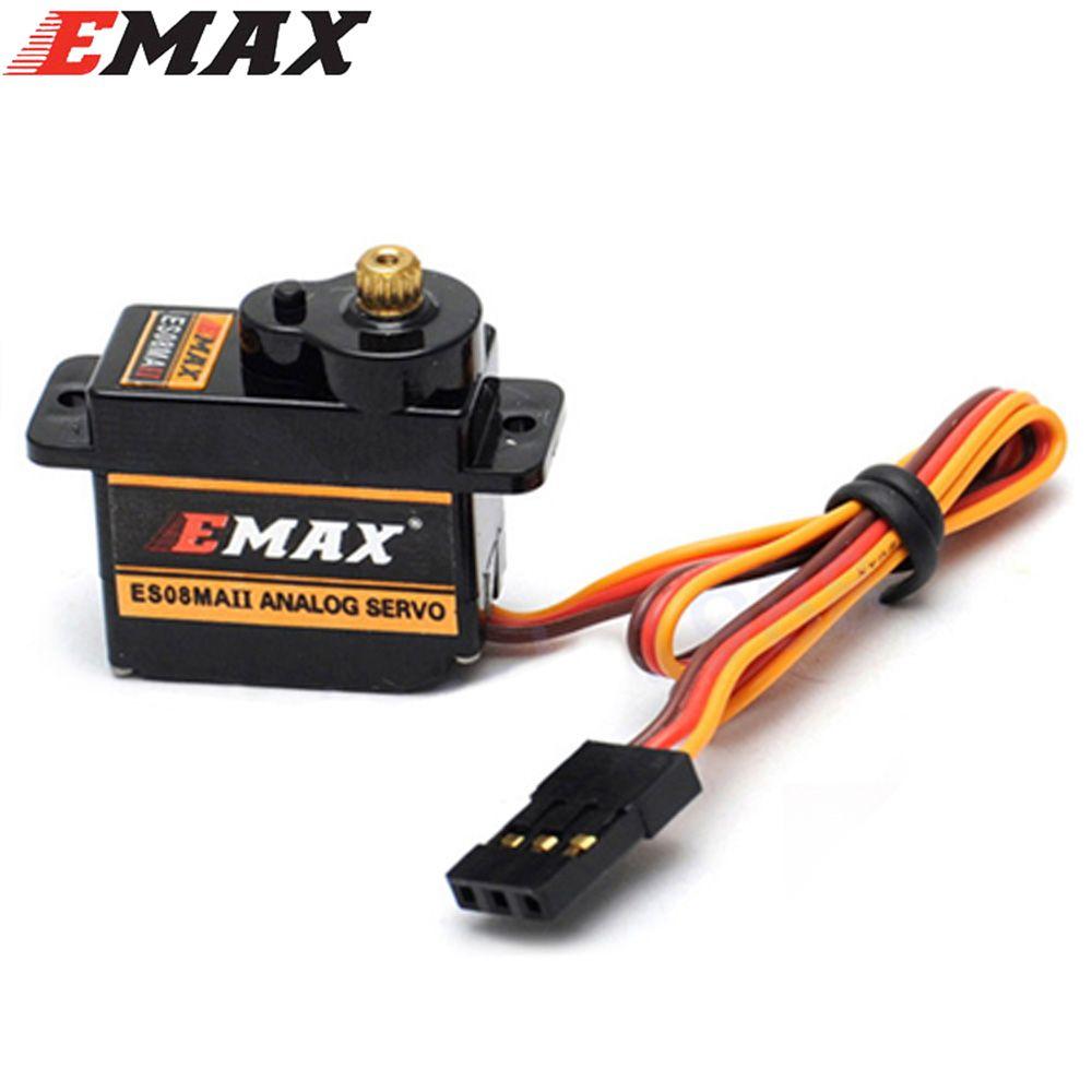 4 pcs/lot EMAX ES08MA II Mini Servo analogique à engrenages en métal 12g/2.0 kg/0.12 Sec Mg90S