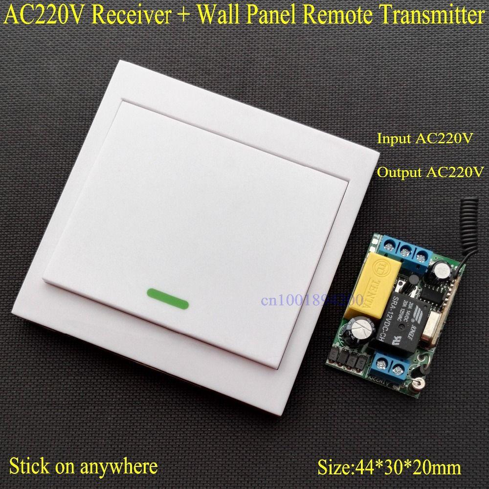 Télécommande sans fil commutateur AC 220 V récepteur panneau mural émetteur à distance Hall chambre plafonniers lampes murales sans fil TX