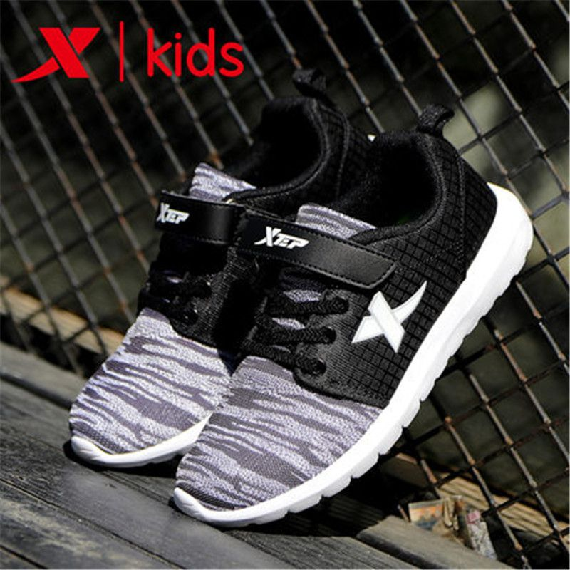 xtep 2017 cool summer Breathable Kids Boys baby sneakers sport shoes for boys kids Children free shipping 683215329851