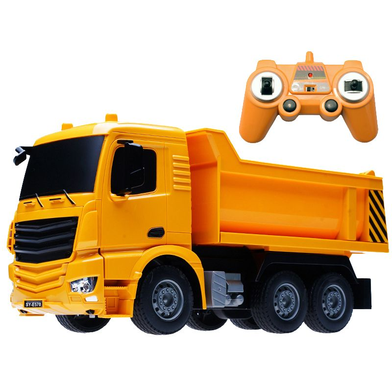 2.4G Interesting simulation RC Engineering truck Super power RC car model Dump truck Children's toys Boys Birthday Xmas gifts
