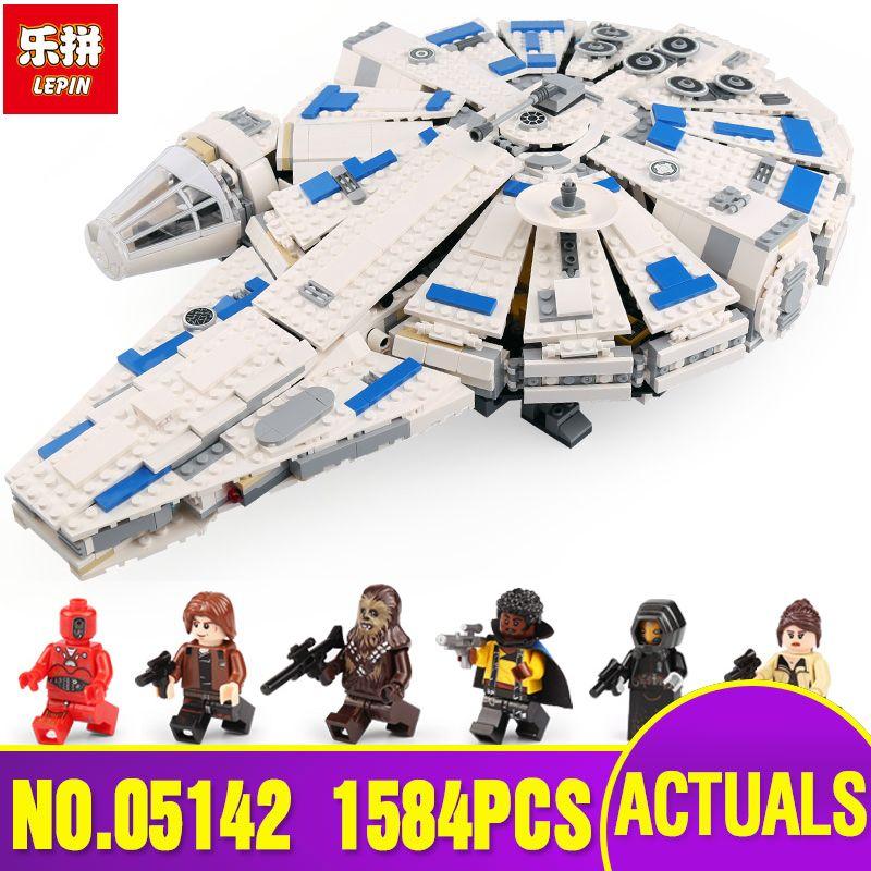 DHL LEPIN Star Series War 05142 Building Blocks Force Awakens Millennium Legoing 75212 Toys Falcon Model Kids Toy Christmas Gift
