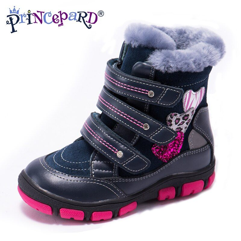 Princepard 2018 multicolor winter orthopedic shoes for kids 100% natural fur genuine leather orthopedic boots boys girl 21-36